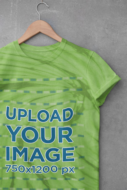Mockup of a Hanged T-Shirt with Tie Dye Texture m4034