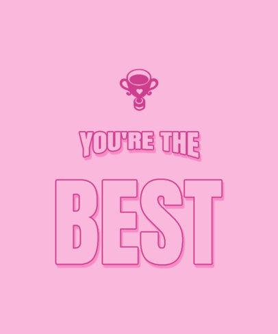 T-Shirt Design Template for the Best Mom with a Trophy Graphic 3514a