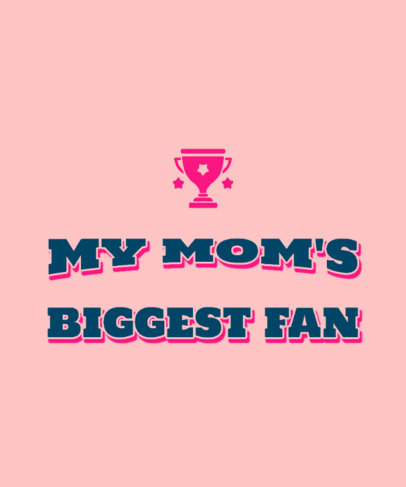 T-Shirt Design Template for Mothers Day Featuring a Sports Theme 3514d