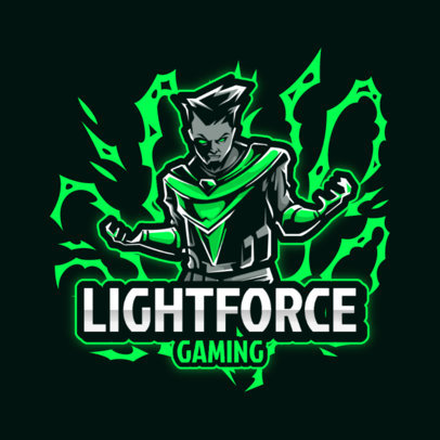 Gaming Logo Maker Featuring a Superhero with Electric Powers 3713-el1