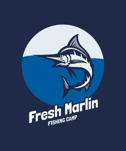 T-Shirt Design Generator Featuring a Marlin Illustration 3667b-el1