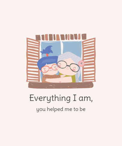 Mother's Day T-Shirt Design Generator Featuring a Thankful Quote 3721e-el1