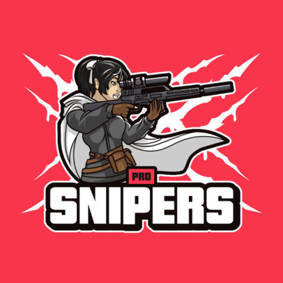 Cool Gaming Logo Creator Featuring a Sniper with a Cape 3707c-el1