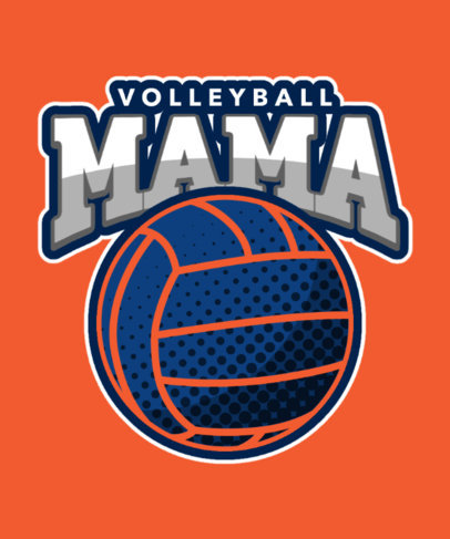 Illustrated T-Shirt Design Maker for Volleyball Moms 3517f