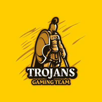 Logo Template for Gamers Featuring a Trojan Warrior 3713a-el1