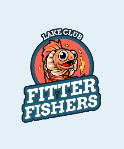 T-Shirt Design Maker with a Cartoonish Fish for a Lake Social Club 3669c-el1