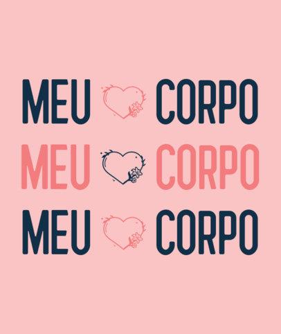 Portuguese Tote Bag Design template Featuring a Feminist Message 3519c