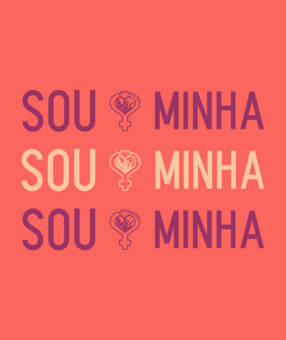 Tote Bag Design Maker with a Powerful Feminist Quote in Portuguese 3519e