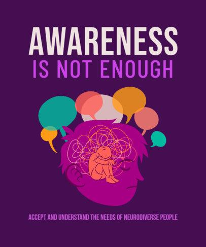 T-Shirt Design Maker to Raise Awareness of Neurodiverse People 3522d