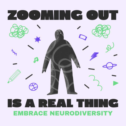 Illustrated Instagram Post Generator Featuring Neurodiversity-Themed Quotes 3526b