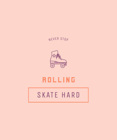 Quote T-Shirt Design Creator Featuring a Roller Skate Icon 3513f