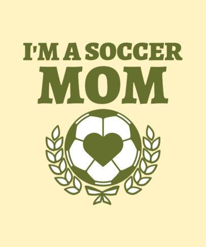 Cool T-Shirt Design Maker for Soccer Moms Featuring a Ball Clipart 3516a