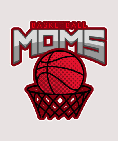 Basketball Mom T-Shirt Design Generator Featuring Cool Illustrations 3517b
