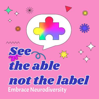 Neurodiversity-Themed Instagram Post Generator 3527a