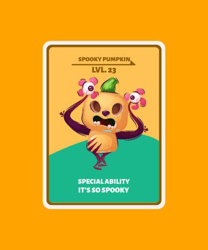 Kids T-Shirt Design Maker with a Pumpkin Monster Illustration 3715e-el1