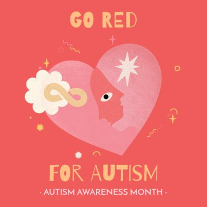 Instagram Post Design Generator for Autism Awareness Month 3526e