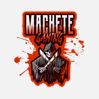 Illustrated Logo Maker for Gamers Featuring a Grim Reaper with Blades 4191m