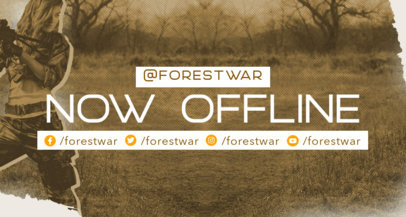 Twitch Banner Template Featuring War Illustrations 3533