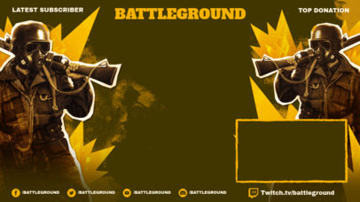 Twitch Overlay Template with Illustrated Battle Royale Shooters 3535