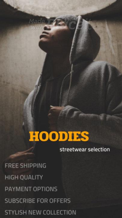 Instagram Story Video Maker for a Streetwear Hoodies Brand 1555a-3077-el1