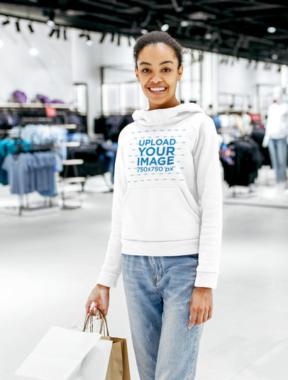 Mockup of a Happy Young Woman at a Clothing Store 44398-r-el2