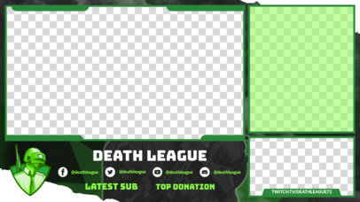 Twitch Overlay Template Featuring PUBG-Inspired Characters 3532