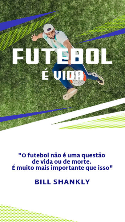 Soccer-Themed Instagram Story Generator Featuring Text in Portuguese 3750d-el1