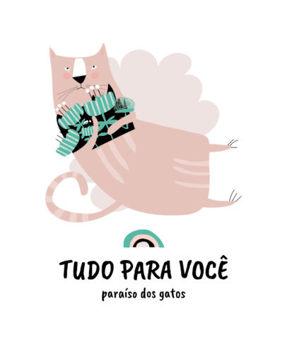 T-Shirt Design Template with a Friendly Cat Illustration 3744b-el1