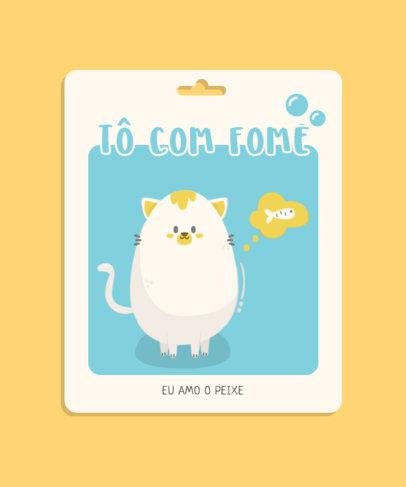 Cute T-Shirt Design Maker with a Portuguese Text and a Cat Icon 3738d-el1