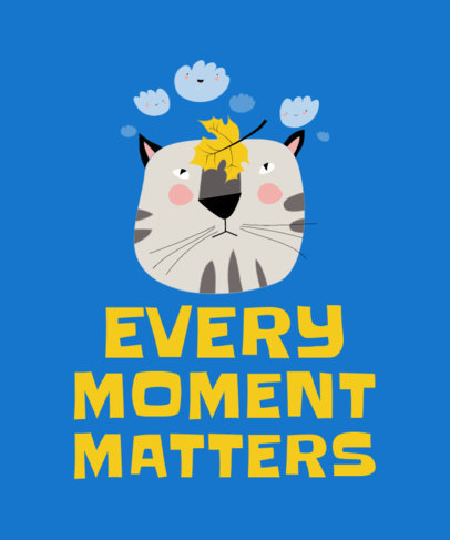 T-Shirt Design Generator Featuring a Cat Enjoying Autumn 3742c-el1