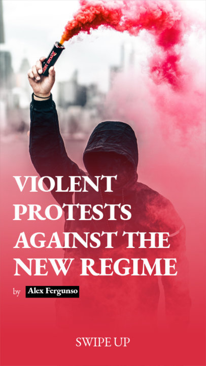Instagram Story Maker for a Breaking News Article Reporting Civil Protests 3754c-el1