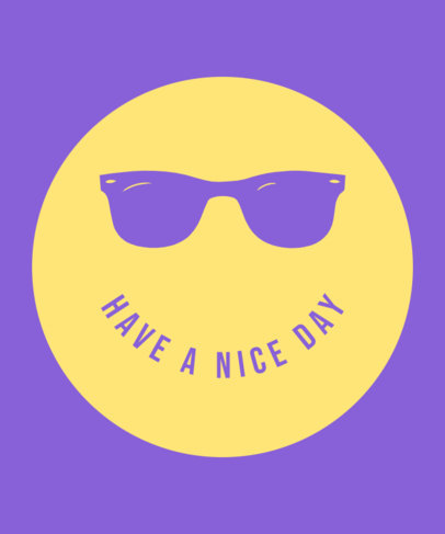 T-Shirt Design Creator Featuring a Graphic a Smiley Face with Sunglasses 3536d