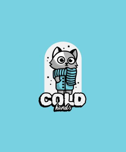 Cartoonish T-Shirt Design Maker Featuring a Cat with a Coat 3746b-el1