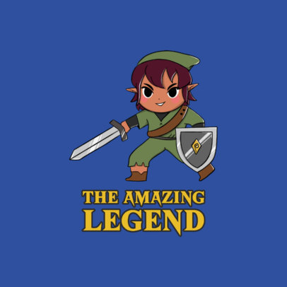 Gaming Logo Maker Featuring a Character Inspired by Link 4210b