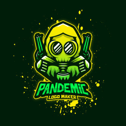 Logo Generator with a Pandemic-Inspired Shooter Character 4200e