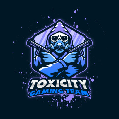 Gaming Logo Maker Featuring a Toxic-Themed Graphic with a Gunner 4200a