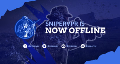 Twitch Banner Generator Featuring a PUBG-Inspired Character with a Rifle 3532a