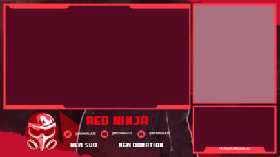 Twitch Overlay Maker Featuring a Warrior Mask Graphic 3532c