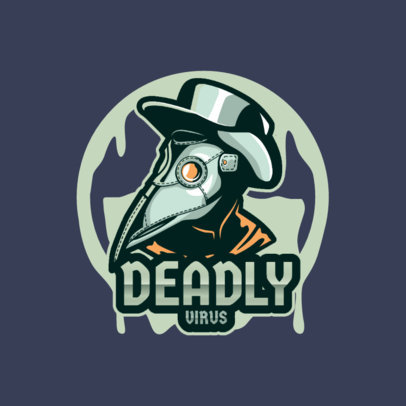 Logo Maker Featuring a Gaming Character With a Plague Doctor Mask 4204f