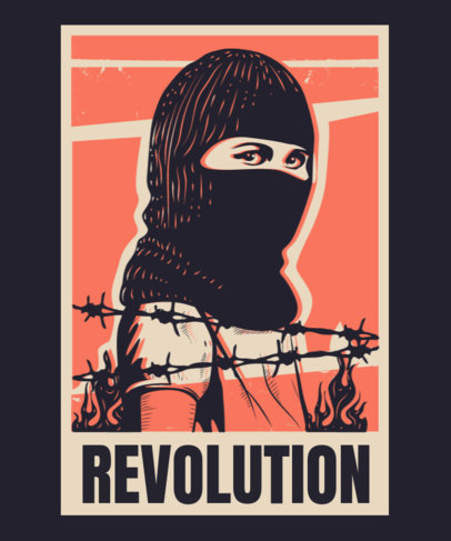 Political T-Shirt Design Maker With a Revolution Theme 3560