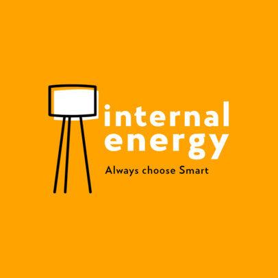 Smart Lighting Company Logo Maker Featuring a Floor Lamp Graphic 3766c-el1