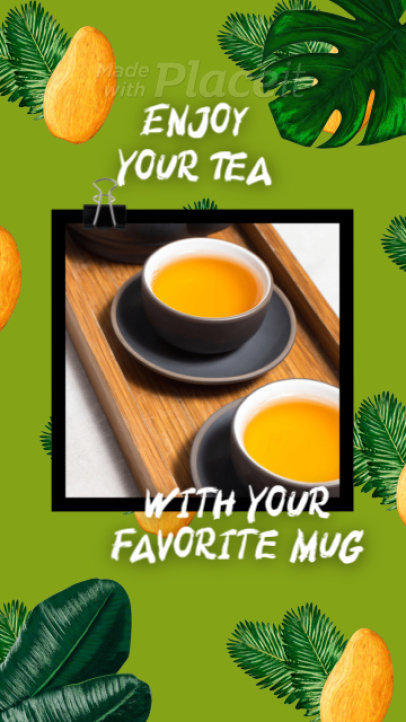 Tea-Themed Instagram Story Video Maker Featuring Tropical Fruits 1583a-3082