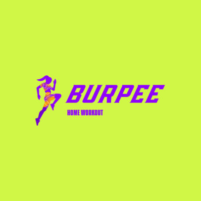 Fun Logo Generator for a Home Workout Plan 4223c