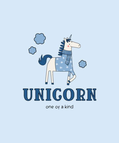 Cute Kids T-Shirt Design Creator for Unicorn Fans 3764b-el1