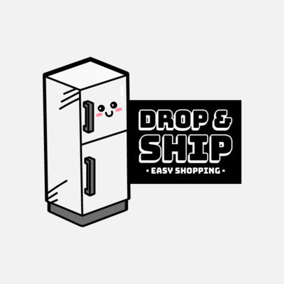 Logo Maker for Dropshipping Stores Featuring a Cute Fridge  3768b-el1
