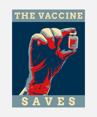 T-Shirt Design Creator Featuring a COVID-19 Vaccine Dose 3552b