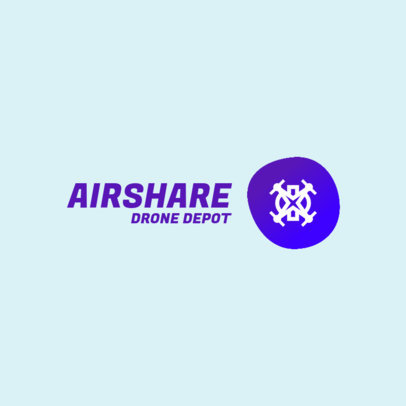 Dropshipping Logo Creator for a Tech Company with a Flying Drone Icon 3770b-el1