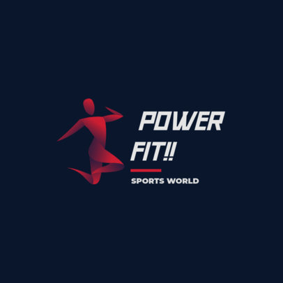 Sports Club Logo Generator Featuring a Fitness Silhouette 4220c