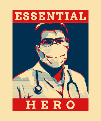 Political-Style T-Shirt Design Generator Featuring a Doctor Illustration 3552e
