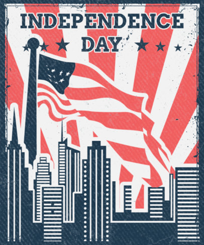 T-Shirt Design Creator Featuring an Independence Day Graphic 3551b